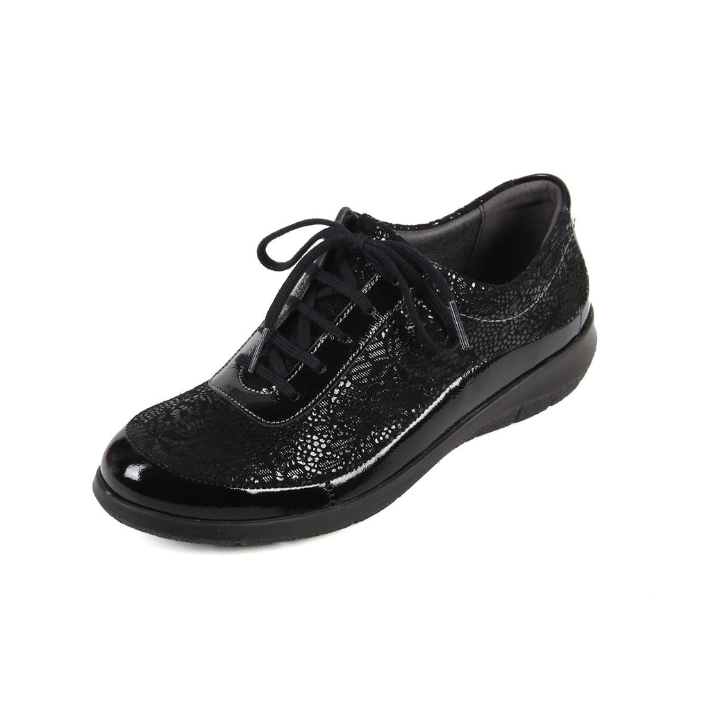 Libby - Black / Print Leather Shoe