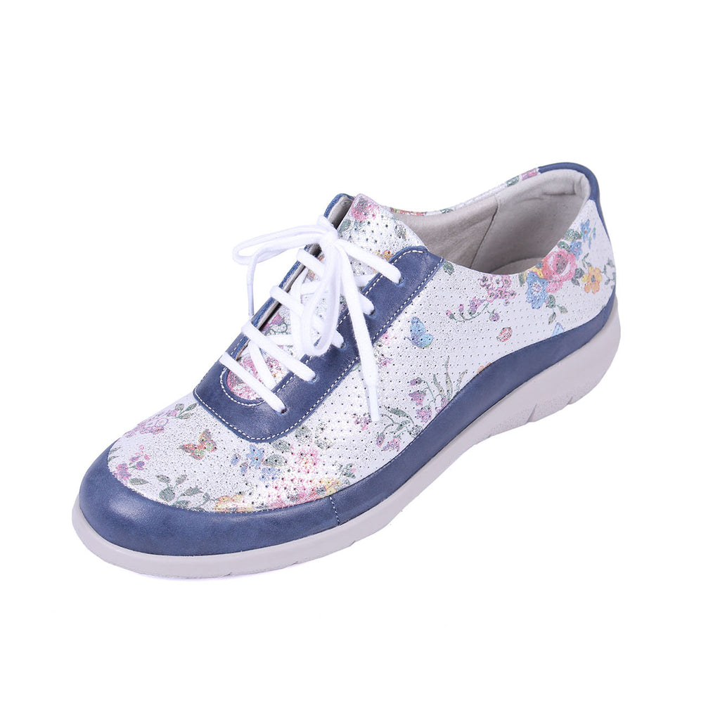 Libby - Royal Blue / Floral Leather Shoe