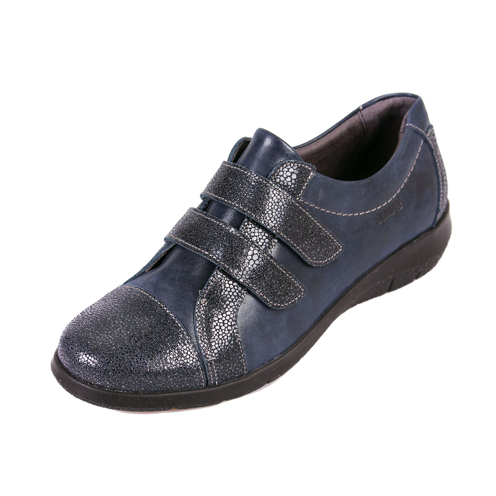 Louise - Navy Shimmer Leather Shoe