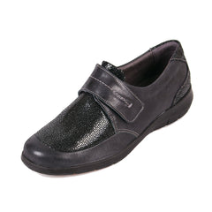 Lucille - Black Shimmer Leather Shoe