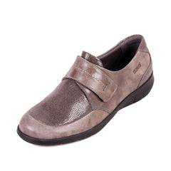 Lucille - Grey Shimmer Leather Shoe