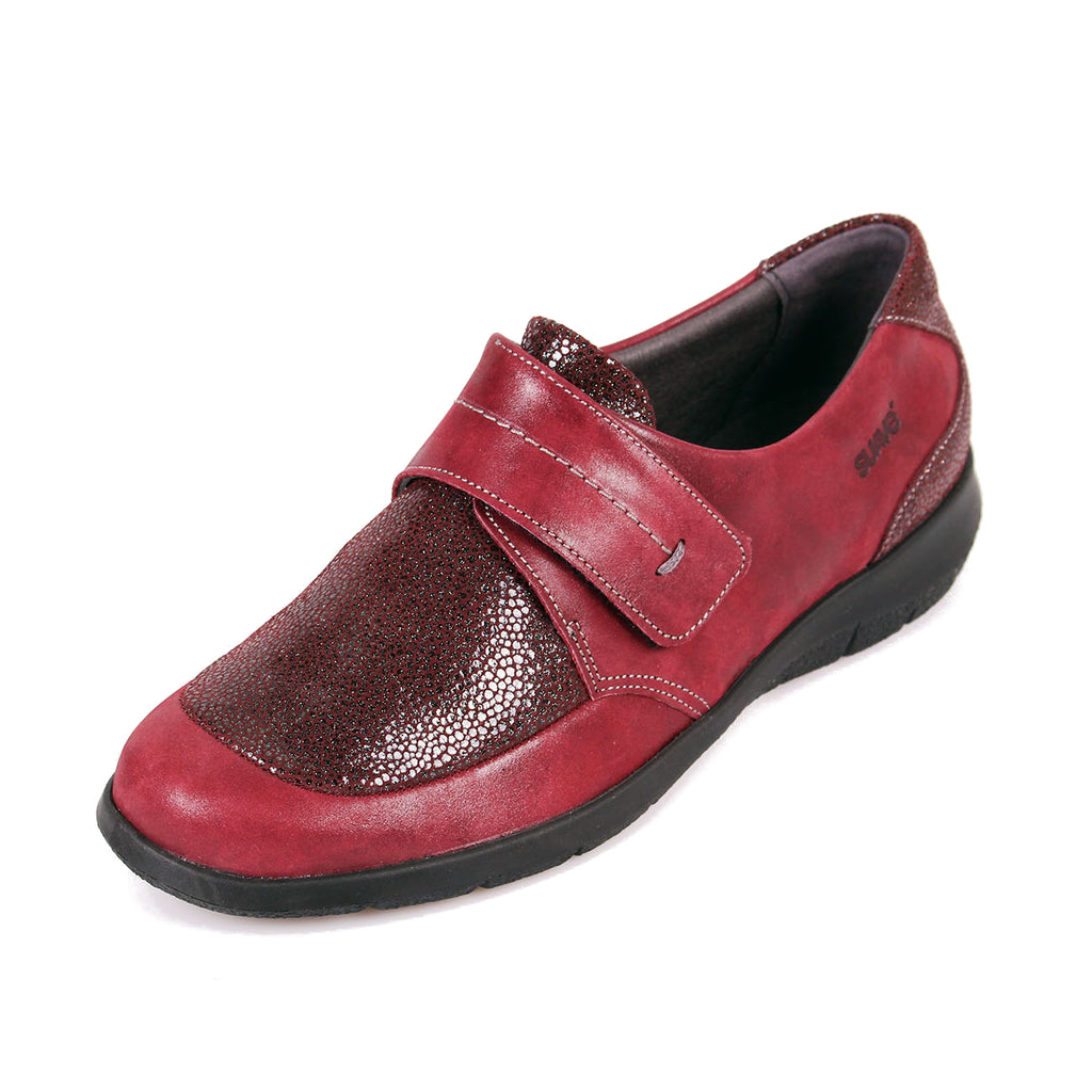 Lucille - Wine Shimmer Leather Shoe