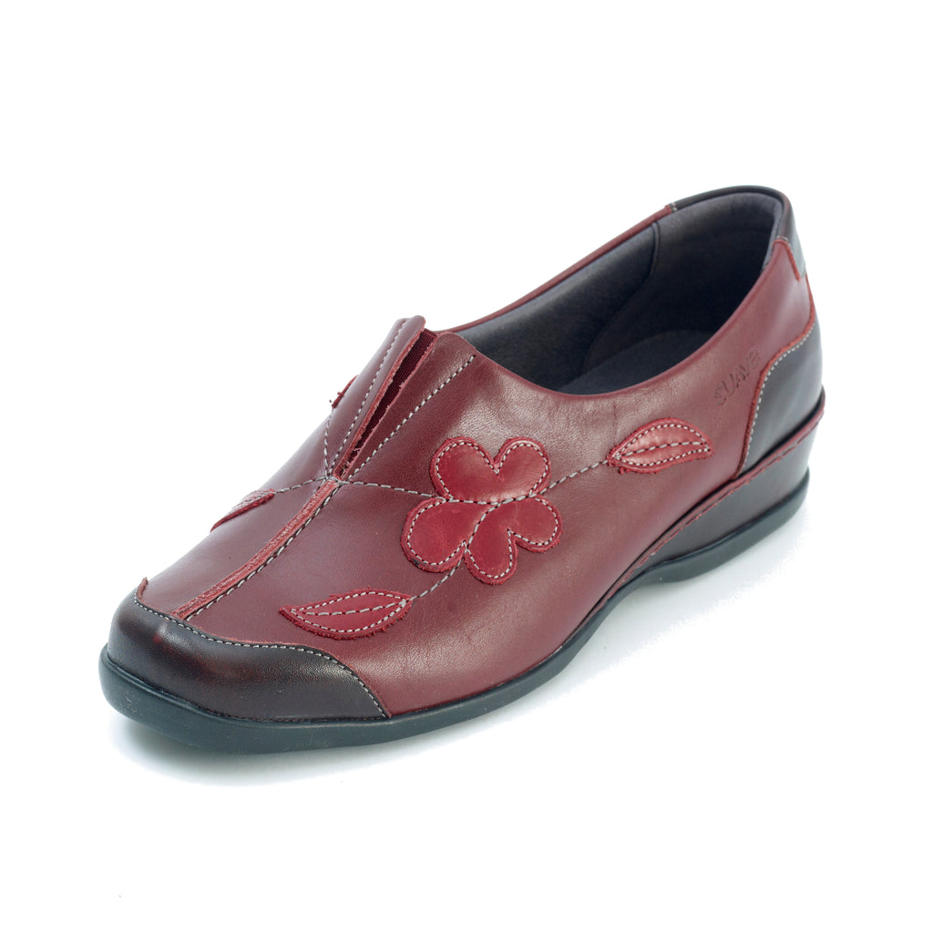 Millie - Dark Red Leather Shoe