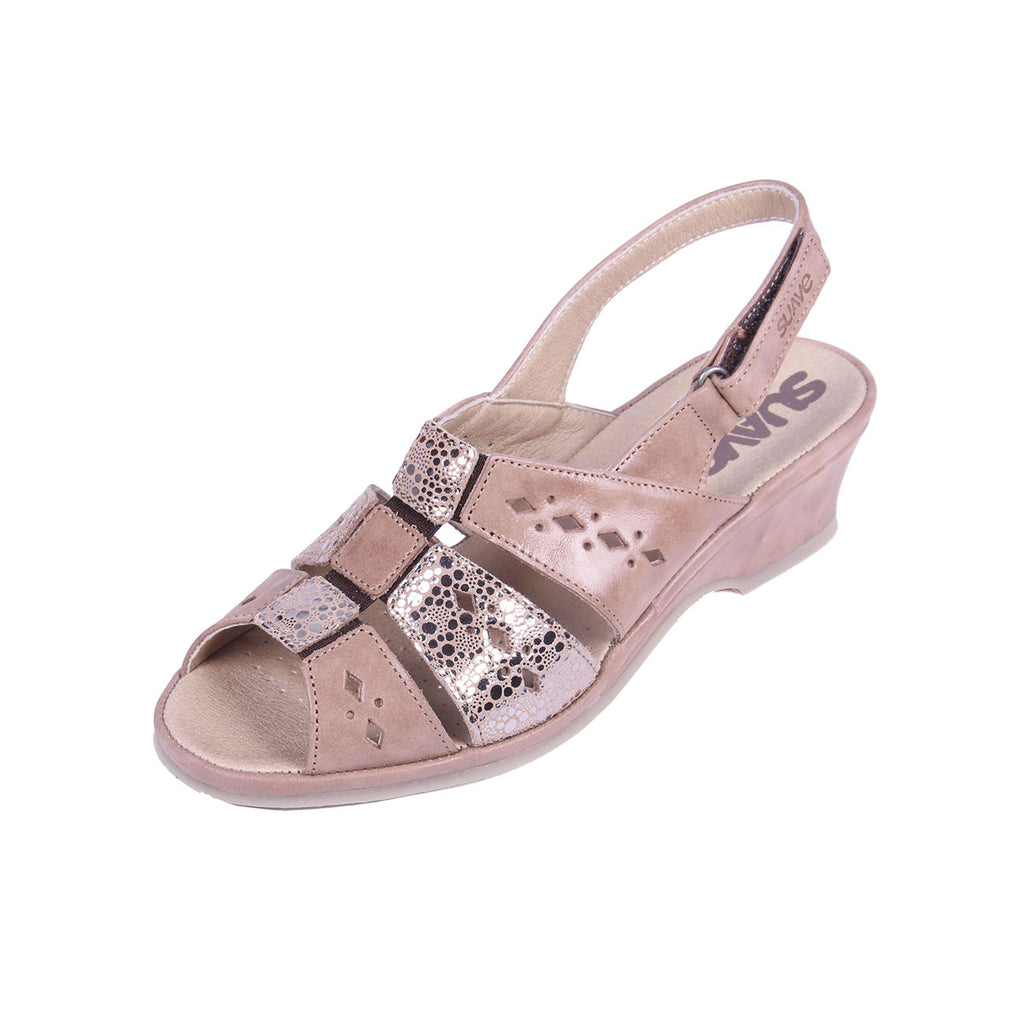 Orla - Bark / Shimmer Leather Sandal