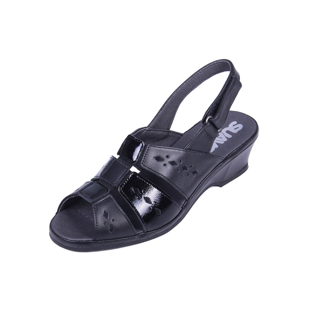 Orla - Black / Patent Leather Sandal