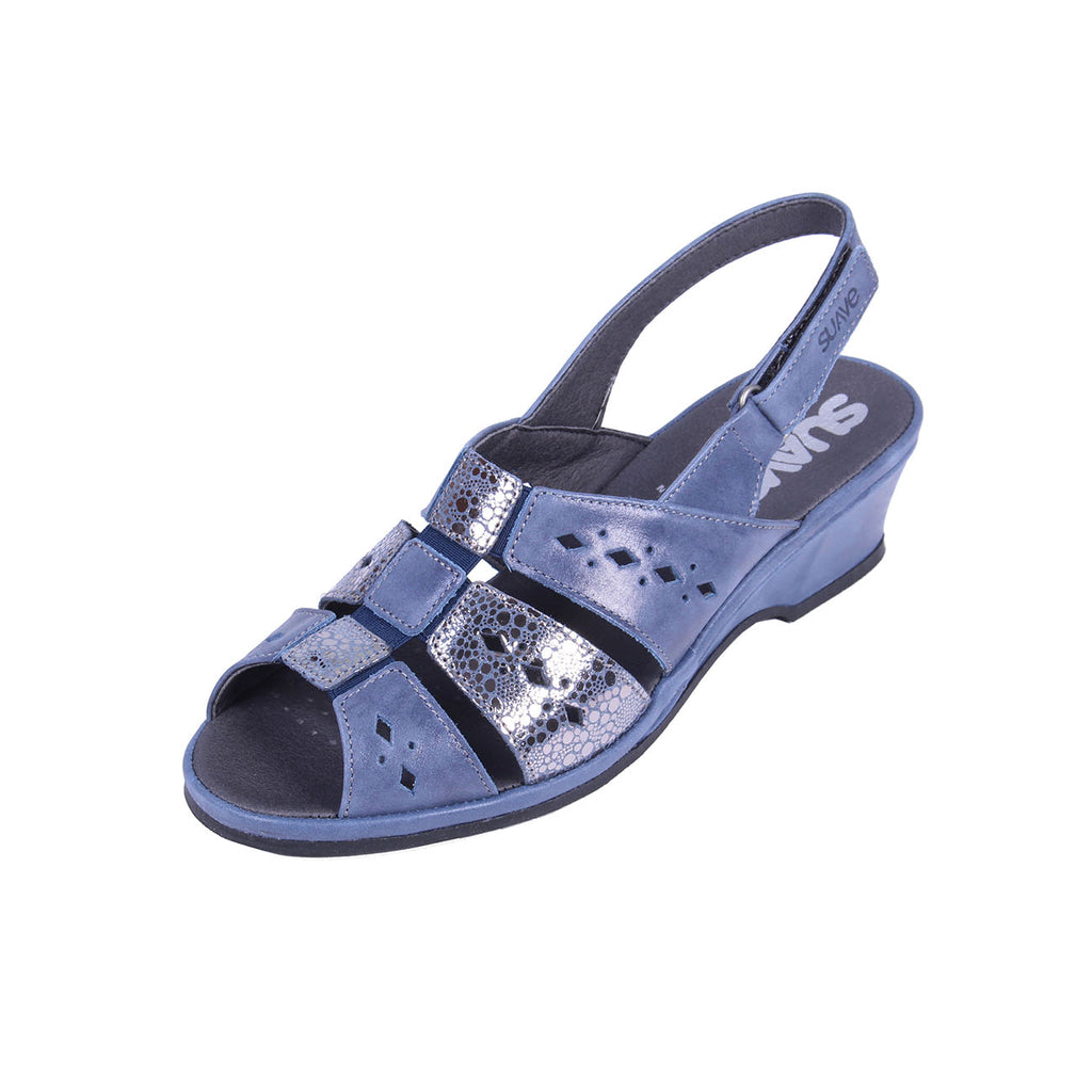 Orla - Royal / Shimmer Leather Sandal