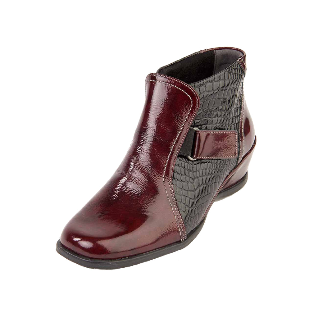 Sasha - Burgundy/Patent Leather Boot