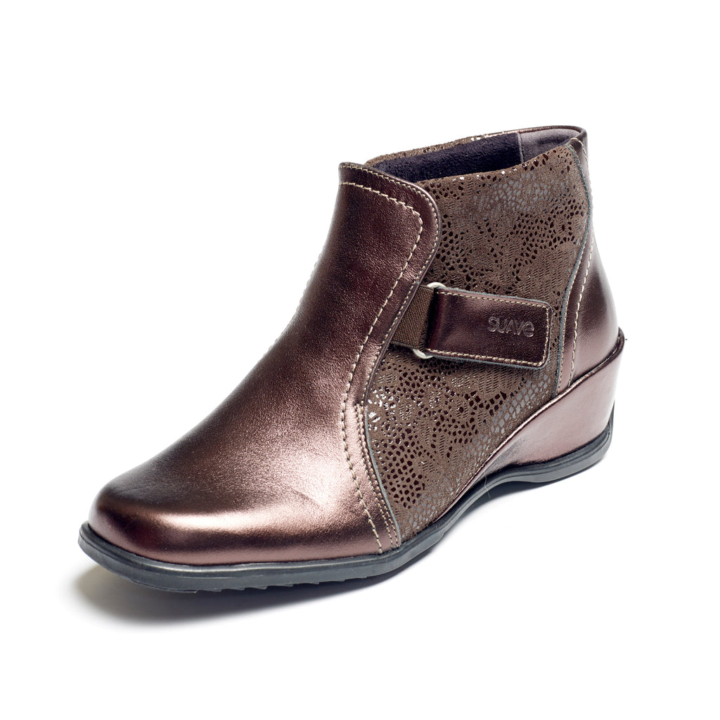 Sasha - Bronze / Print Leather Boot