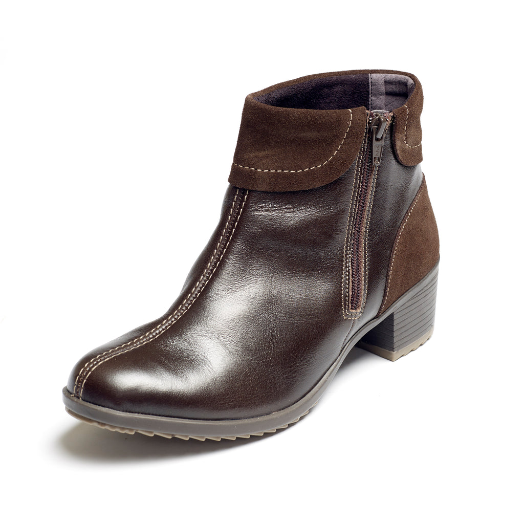 Alicia - Brown / Suede Leather Boot