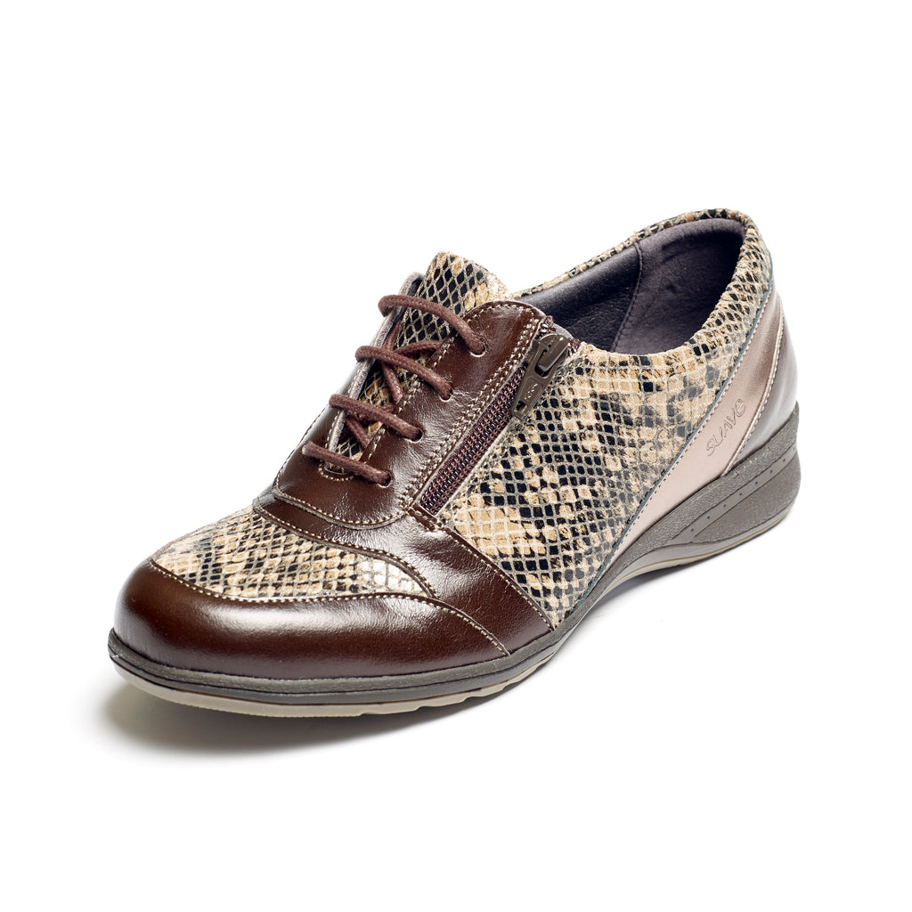 Brook - Brown Snake Leather Shoe