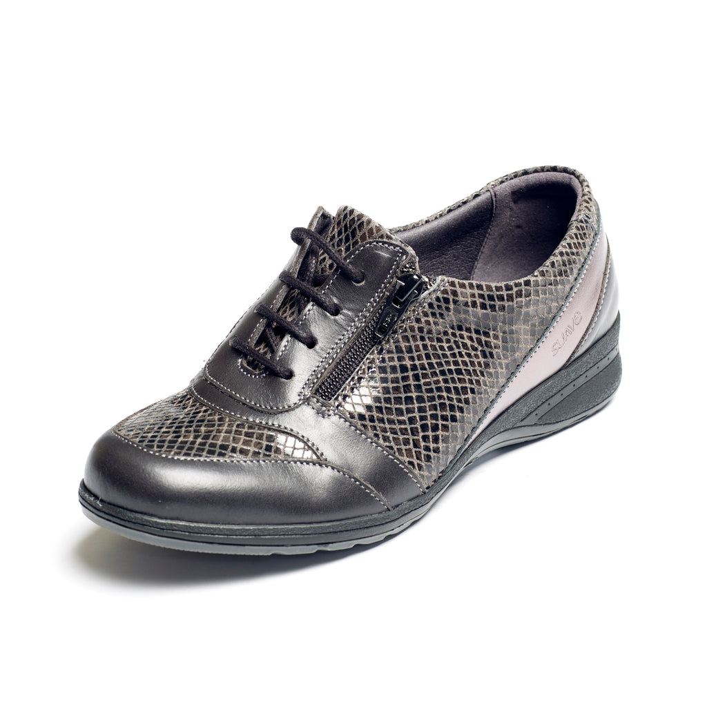 Brook - Black Snake Leather Shoe