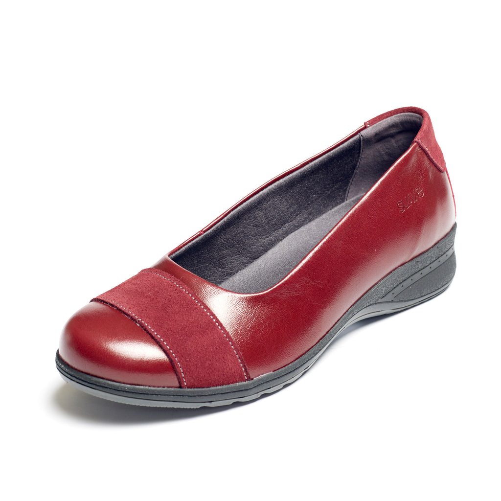 Bethany - Cherry Leather Shoe