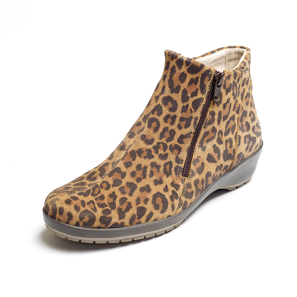 Quinn - Leopard Leather Boot