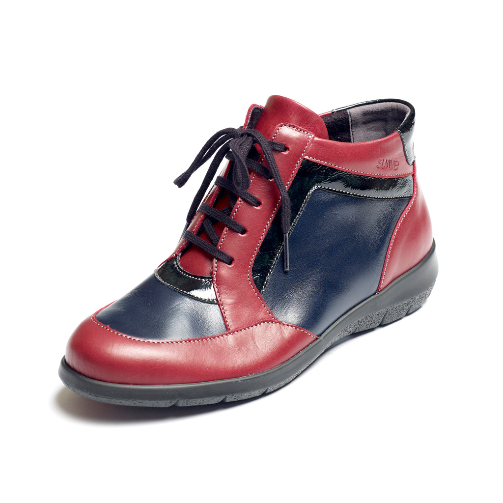 Riva - Cherry / Multi Leather Boot