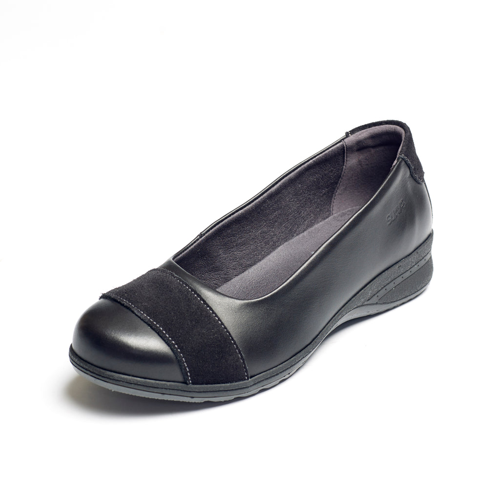 Bethany - Black Leather Shoe