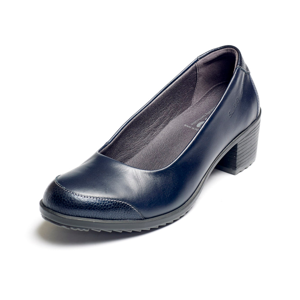 Avalon - Navy Leather Shoe