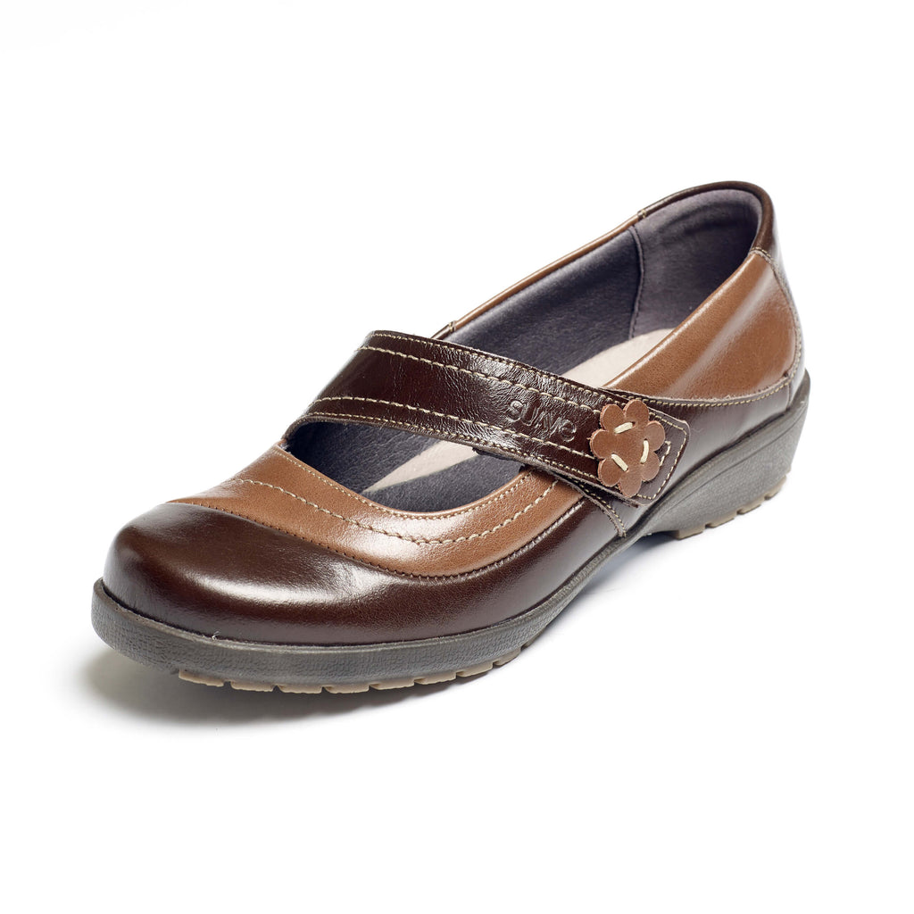 Joy - Mocca/Coffee Leather Shoe