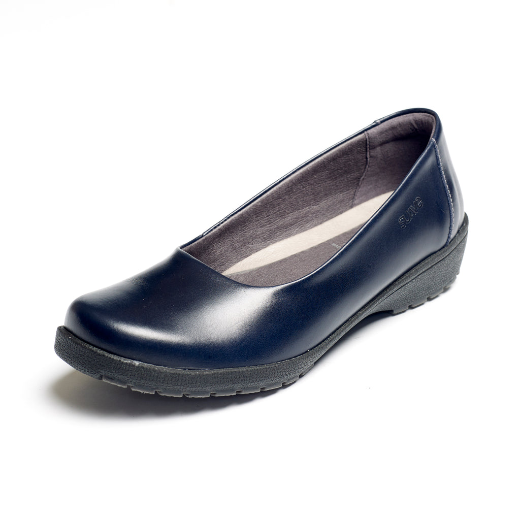 Jewel - Navy Leather Shoe