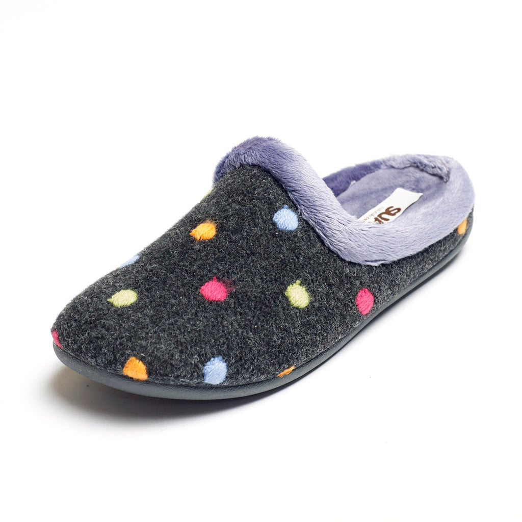 Penny - Charcoal / Multi Slipper