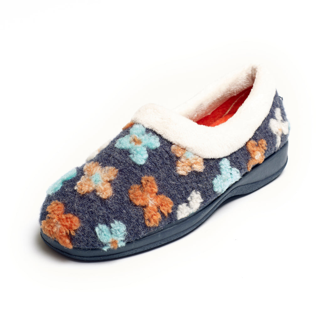 Primrose - Blue Multi Slipper