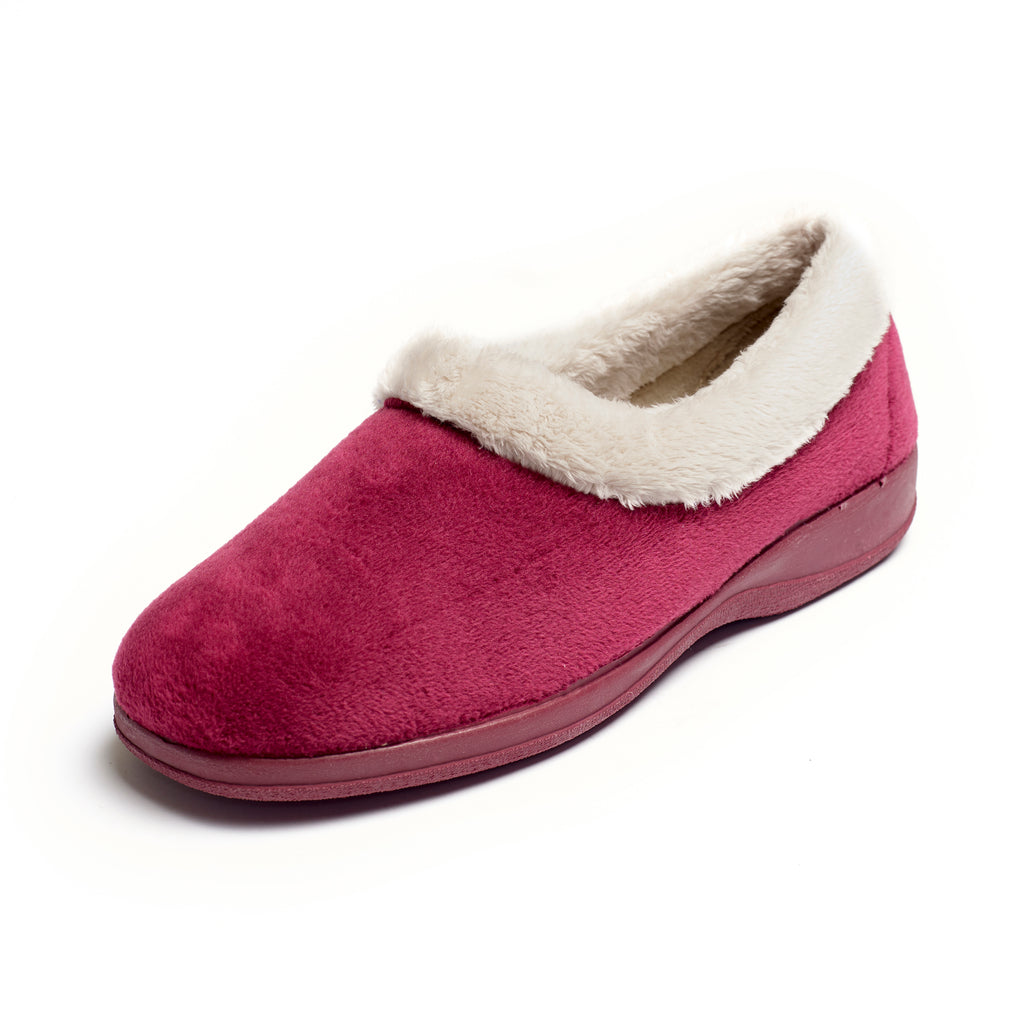 Petra - Dark Red Slipper