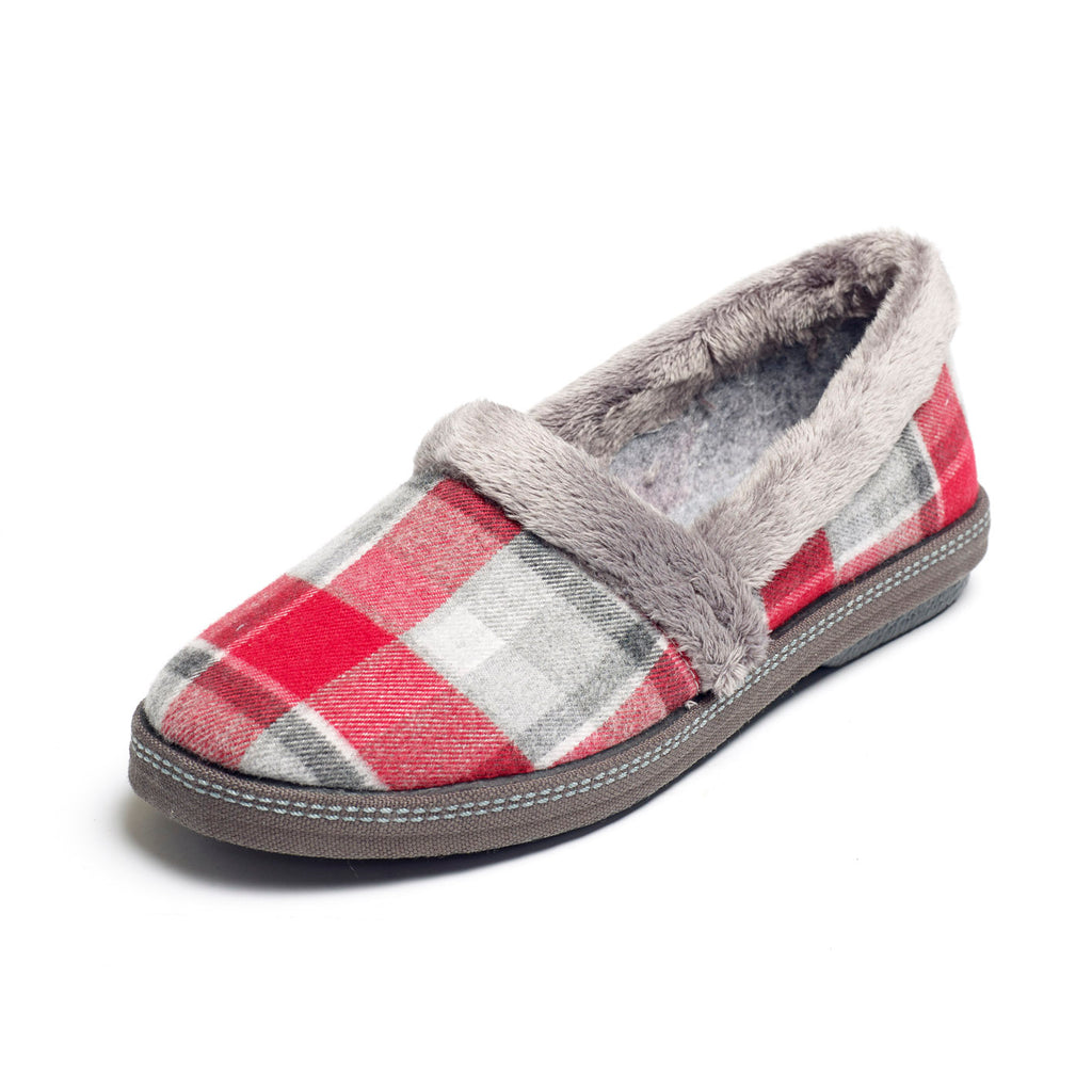 Pipa - Red Check Slipper