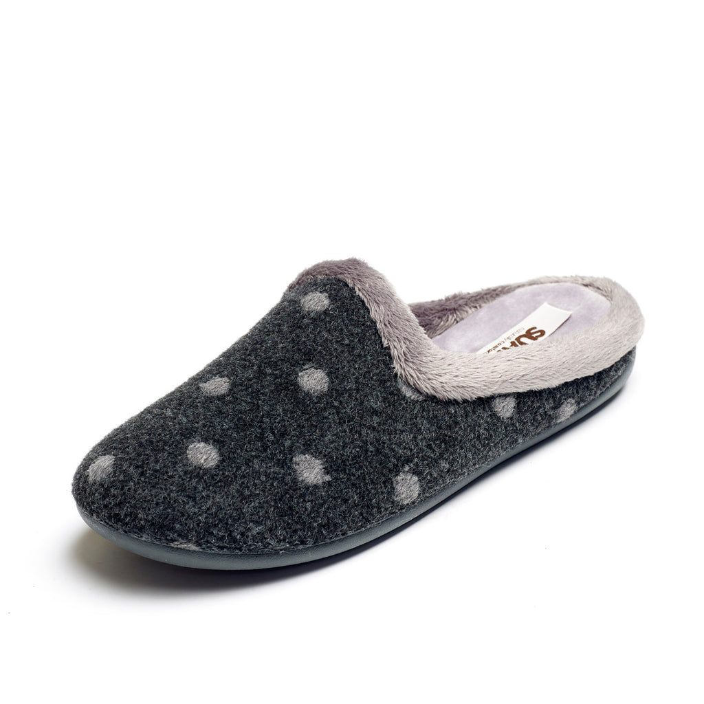 Penny - Charcoal / Grey Slipper