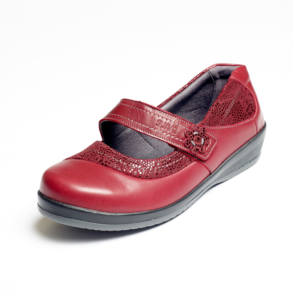 Maine - Cherry / Print Leather Shoe