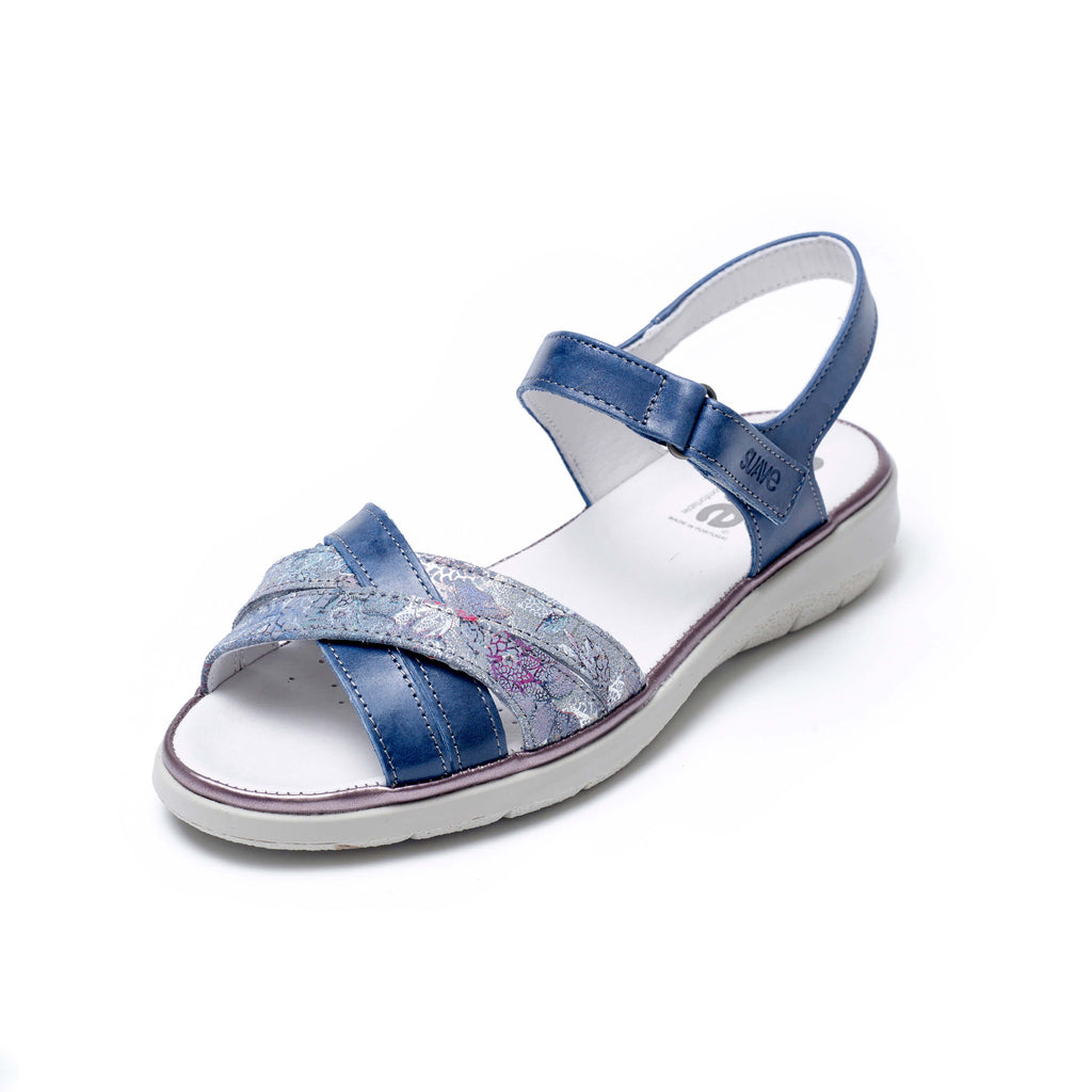 Kitty - Royal / Print Leather Sandal