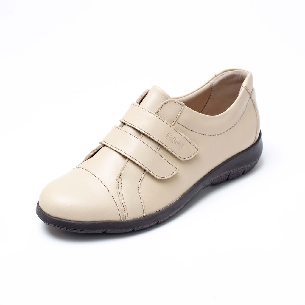 Louise - Beige Leather Shoe