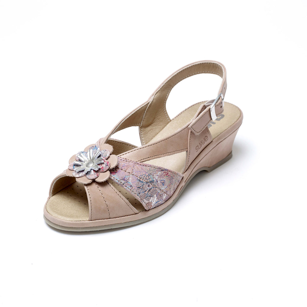 Oasis - Peach Leather Sandal