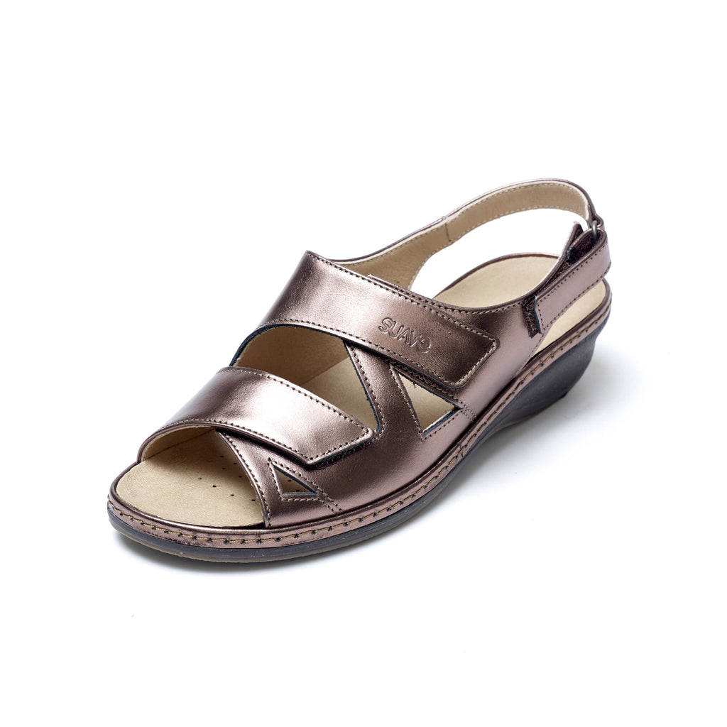 Helen - Metallic Leather Sandal