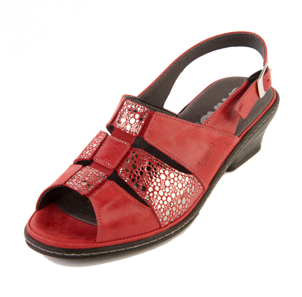 Ebony - Cerise/Shimmer Leather Sandal