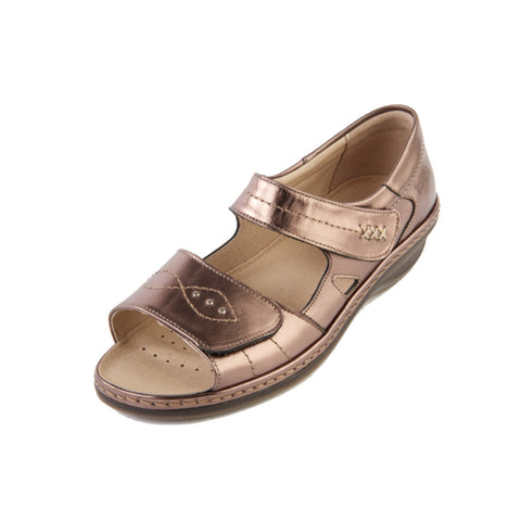 Hilda - Metallic Leather Sandal