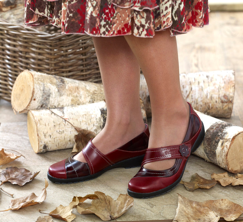 Joy - Cherry/Burgundy Leather Shoe