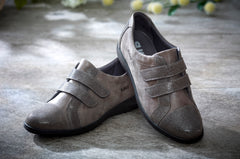 Louise - Grey Shimmer Leather Shoe