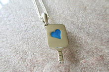 Load image into Gallery viewer, PB&J Acrylic Filled Hearts in Sterling Silver Pickleball Paddle pb14f