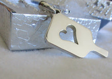 Load image into Gallery viewer, PB&J Sterling Silver Mega Heart Pickleball Pendant (Pb12-2h)