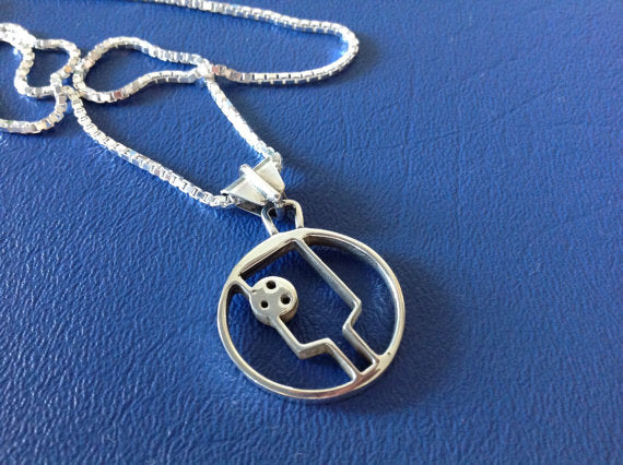 PB&J Sterling Silver Pickleball Pendant (Pb10-2)