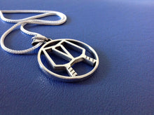 Load image into Gallery viewer, PB&J Sterling Silver Pickleball Partners Pendant (pb16)