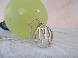 PB&J Sterling Silver Pickleball Partners Pendant (pb16)