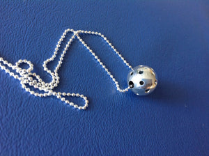 PB&J Sterling Silver Mini Me Pickleball Pendant (Pb31)