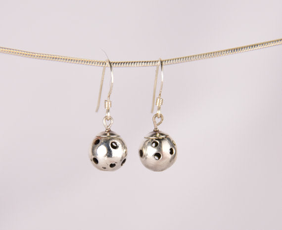 PB&J Sterling Silver Drop Pickleball Earrings (Pbe26)