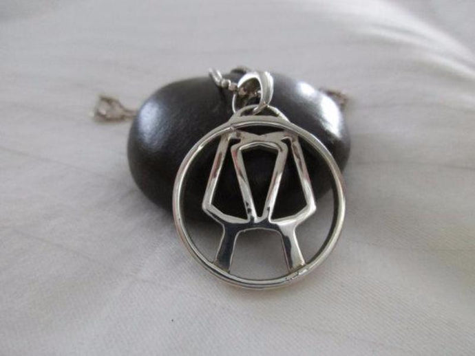 PB&J Sterling Silver Partners Pickleball Pendant - Smaller Version