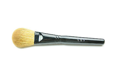 L&Y Blush / Powder Brush with Black Handle and Light Golden Color Hair