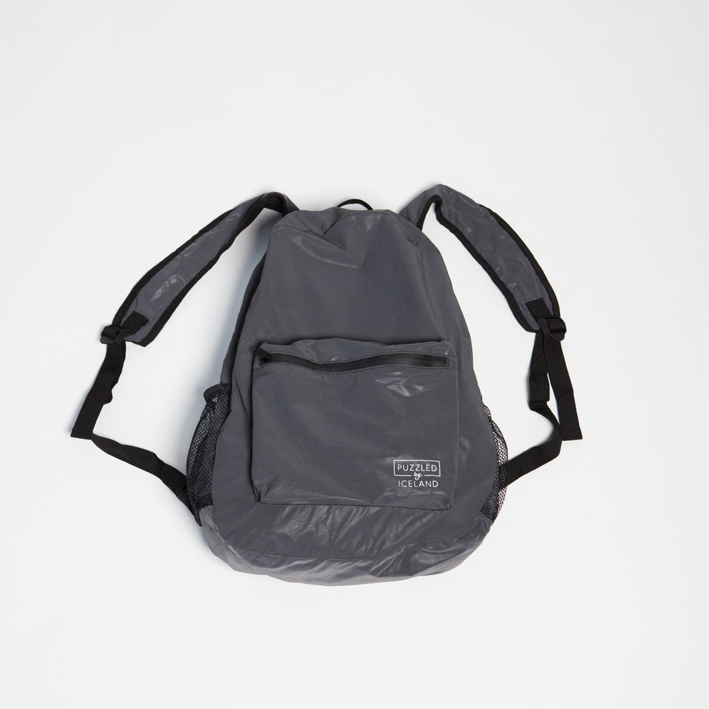Black Reflective Backpack