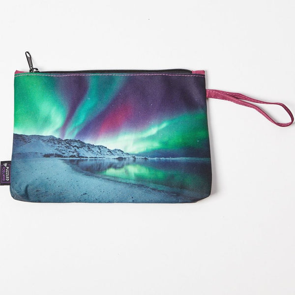 Cosmetic bag with the northern lights