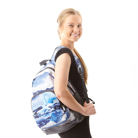 Foldable backpack with Jökulsárlón
