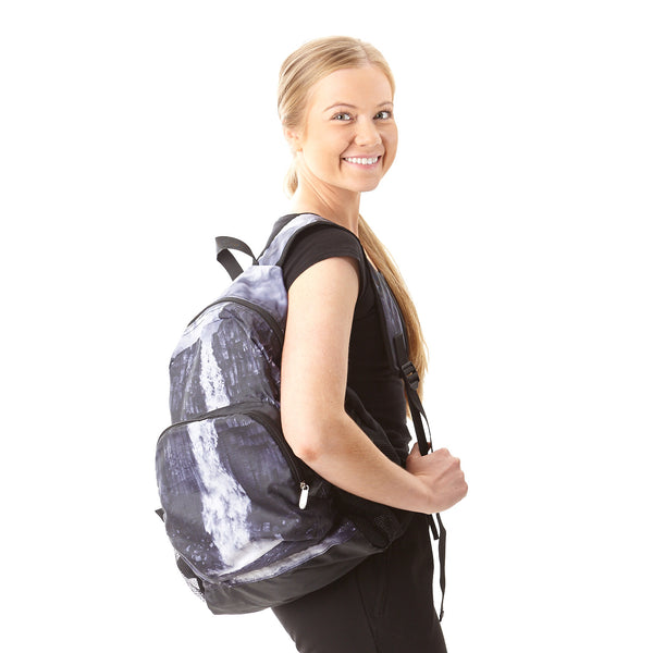 Foldable backpack with Svartifoss