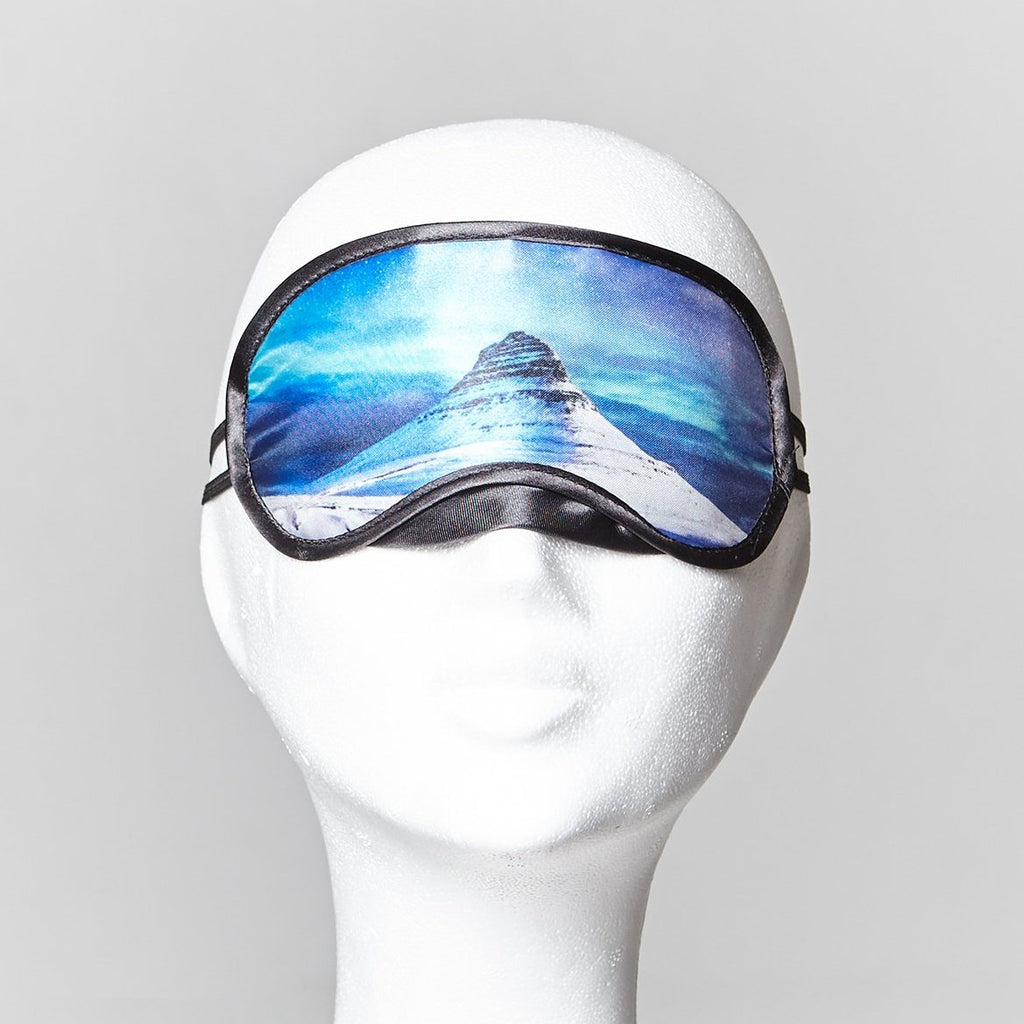 Sleeping mask with Kirkjufell